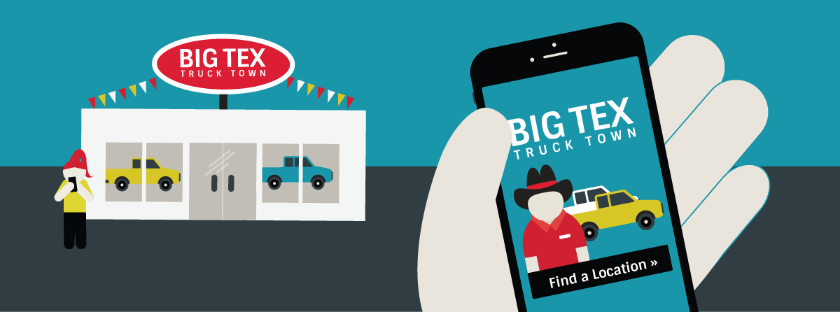 Big Tex Truck Town Dealership & Mobile Phone showing ad from Big Tex Truck Town