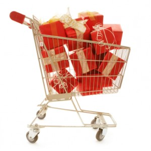 Cart with presents